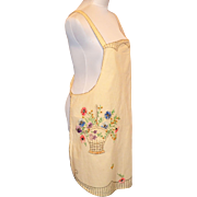 Vintage 1930's Embroidered Apron