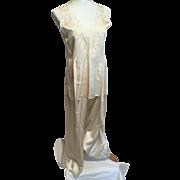 Vintage 1920's Silk Lingerie Lounging Pajamas