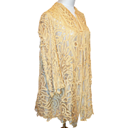 Antique Early Victorian Battenburg Lace Jacket