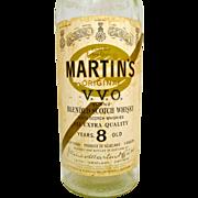 Vintage Large Martin's  Scotch Whisky Bottle