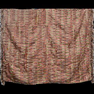 Pair Matching Art Deco Silk Throws Quilts Blankets