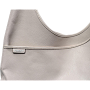 White Cross-body Hobo Coach Handbag with Dust Bag