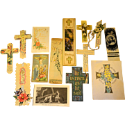Collectors Lot 14 Religious Spiritual Easter Celebration Ephemera Early 1900s