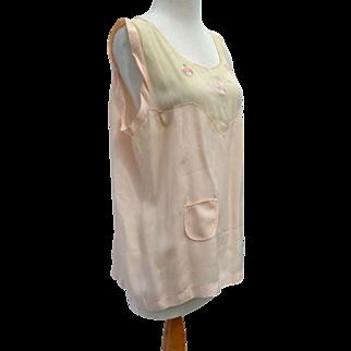 Vintage Silk Lingerie Top Art Deco Era