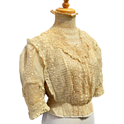 Antique Victorian Lace Top Blouse