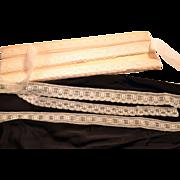 Three Types of Hand Made Lace 14 Yards English Thread Original Box.