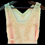 Vintage 1930s Silk Lingerie Jumpsuit. Larger Size.