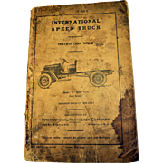 International Speed Truck Harvester Classic Vintage Cars Manual RARE As They Come