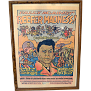 RARE Original Historical Marijuana Poster 1985  Rally Against Reefer Madness