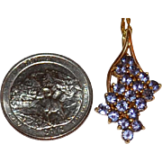 Tanzanite Gemstone 10K Gold Pendant