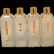 Vintage Mid Century Modern 1950's Liquor Bottles
