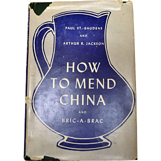 Vintage Book How to Mend China And Bric A Brac. Includes Doll Repair