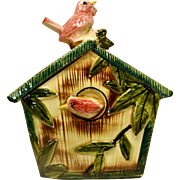 Vintage Bird House Cookie Jar