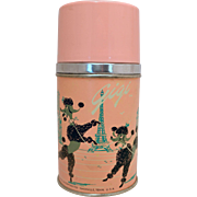Paris and Poodles Aladdin Pink Thermos