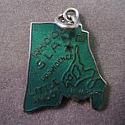 Silver Rhode Island State Souvenir Charm