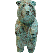 "Exceptional Craftsmanship Vintage Native American Bear ""Fetish"" Statue"