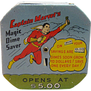 Highly Collectible & Rare Vintage Captain Marvel's Magic Dime Saver Mechanical Bank
