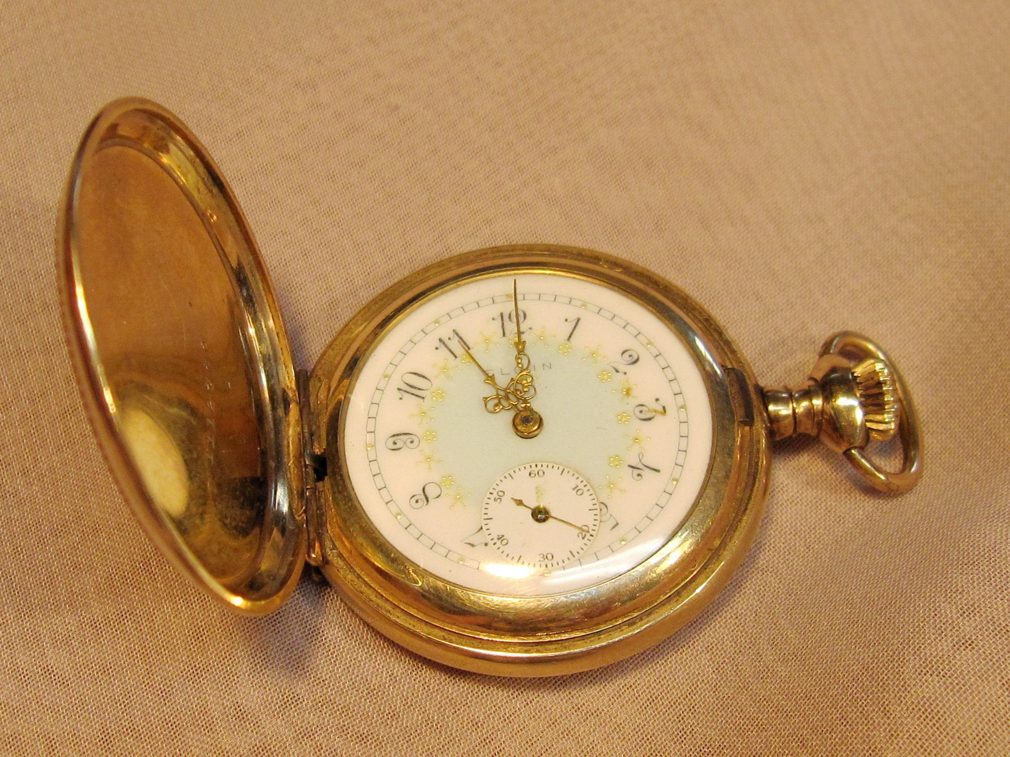 Antique Early American Period Ladies Elgin Pocket Watch 1909 From