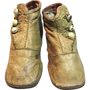 Sweet Antique Leather Baby Shoes