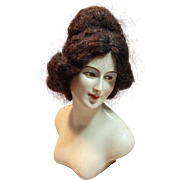 "Antique German Signed Lilli Baitz, Boudoir Doll/Half Doll Lady ""Irene"""