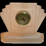 Vintage Art Deco Fan Shaped Clock by Sarsaparilla