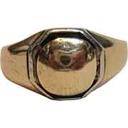 Antique Signet Ring in 10K Two-Tone Gold