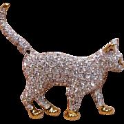 Charming 3D Standing Cat by Swarovski