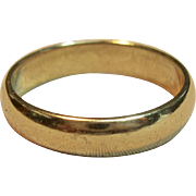Traditional High Polished 14K Yellow Gold Band Ring