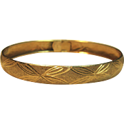 Quality Piece Vintage Bangle Bracelet in 14K Yellow Gold