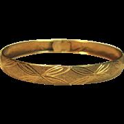 Quality Piece Vintage Bangle Bracelet in 14K Yellow Gold