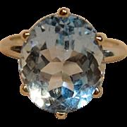 Dazzling Blue Topaz Ring in 14K White Gold