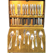 Alvin Silver plated Silverware by Alvin Circa 1924 Louisiana Pattern