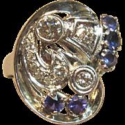 Art Deco Elegance Diamond Ring in 14K White Gold