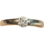 Lovely Hearts on Fire Diamond Engagement Ring in Solid 18K White Gold