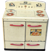Charming Vintage Child's Toy Oven & Combo By Louis Marx Co. Circa 1940's-50's