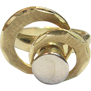 Rare Motion or Spinner Ring in Solid 14K Yellow Gold