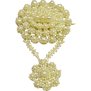 Unique Georgian or Early Victorian Seed Pearl Brooch