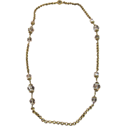 Marvelous Vintage Miriam Haskell Necklace Circa 1940's-60's
