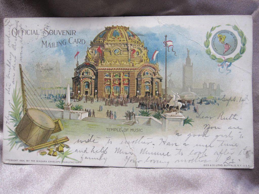 1901 Official Souvenir Postcard