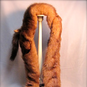 Vintage Stunning Triple Mink Genuine Fur Collar