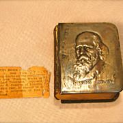 Antique Miniature Silver Book by Lord Tennyson Circa 1909