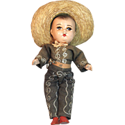 Vintage Mexican Mariachi Composition Doll