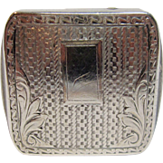 Vintage Art Deco Sterling Silver Belt Buckle By Wadsworth