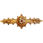 Exquisite Vintage Etruscan Brooch in 9K Gold