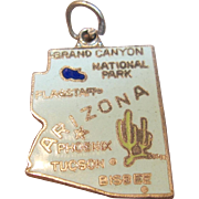 Charming Vintage Enameled Arizona Charm