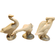 "Majestic Set of 3 ""Little Duck"" Figurines by Lladró"