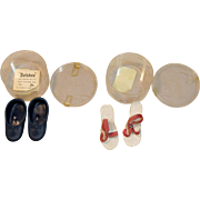 "Vintage Doll Shoes By Dolshoe, BL Custer Co. Marietta GA for Medium, 18""-20"" Doll"