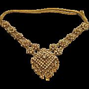 Exquisite Vintage White Sapphire Necklace