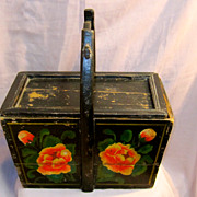 Antique Chinese Wedding/Brides Wooden Basket/Box