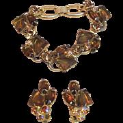 Vintage Elegant Bracelet and Earring Set by Juliana Jewelry (D&E)